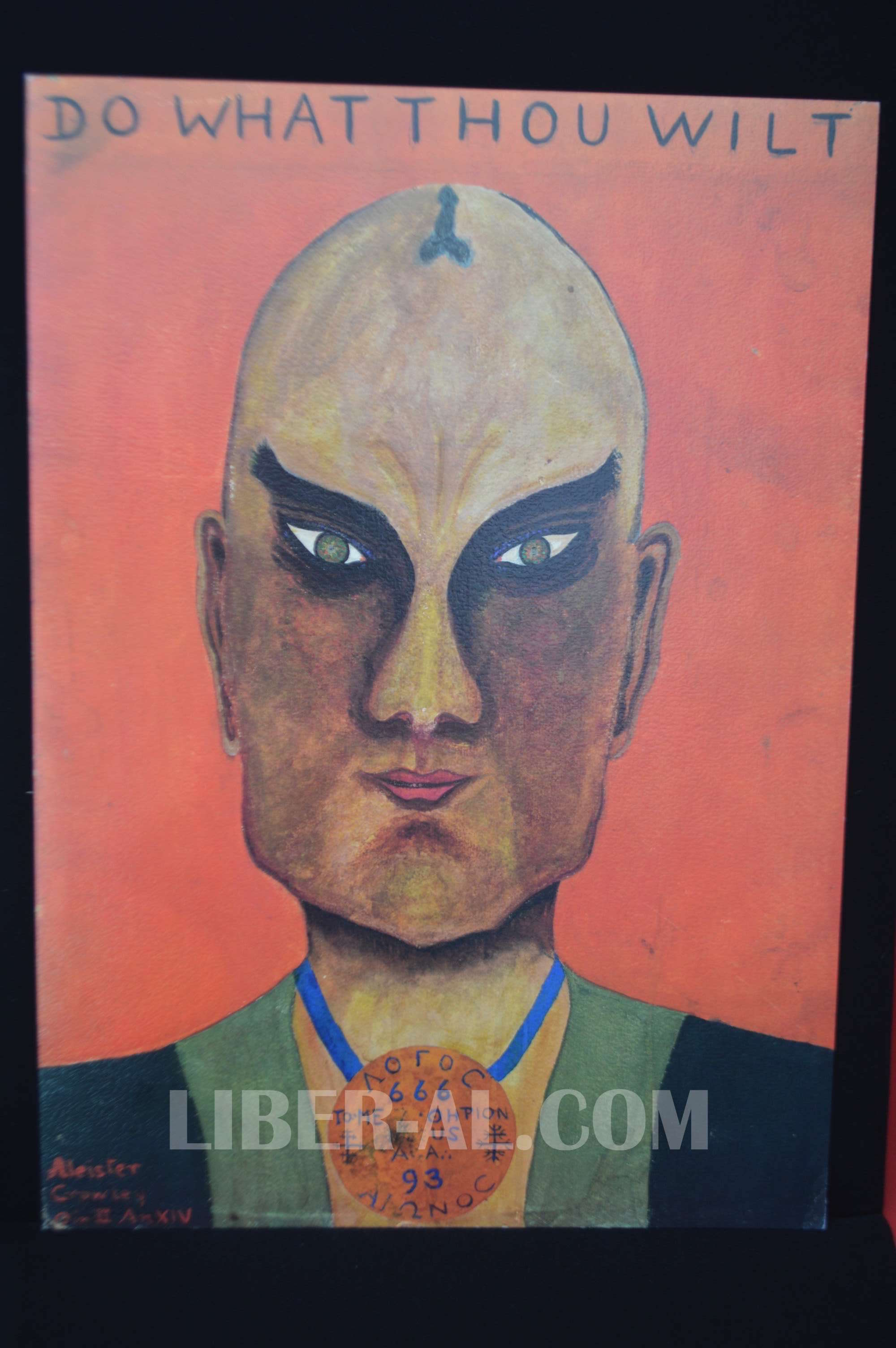 """""""Master Therion"""" Aleister Crowley Self Portrait Limited Edition Fine Art Print"""