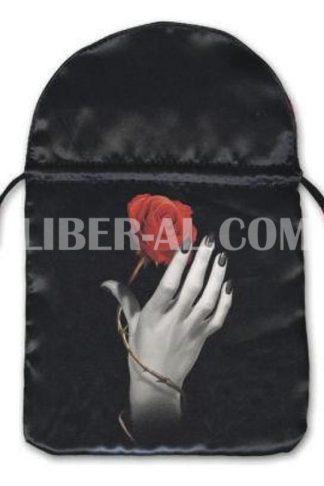 Rose in Hand Satin Tarot Bag