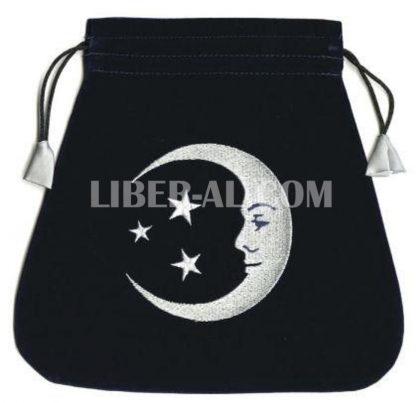 Smiling Moon Embroidered Tarot Bag